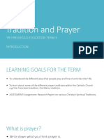 prayer and tradition introduction