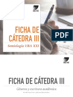 9. Los Géneros Académicos_ Ficha de Cátedra Semiología UBA XXI (2017)