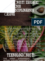 Specifičnosti Ekološki Usmjerenih Interdisciplinarnih Časova