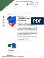 Bandejas de Almacenamiento Detectables - Plásticos Detectables