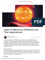 Types of Refractory Materials and Their Applications