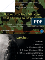 O Novo Urbanismo Militar