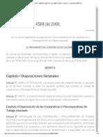 Decreto 4588 de 2006 de Colombia, Marco Legal y Jurisprudencial