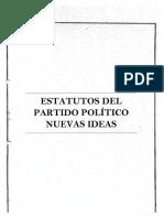 Estatutos de Partido Nuevas Ideas