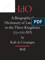 A Biographical Dictionary Of Later Han To The Three Kingdoms 23 220 Ad Han Dynasty Confucianism