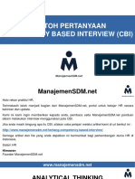 Contoh CBI - ManajemenSDM_net