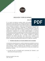 Arturo Manrique Guzmán - Educación y Teoría de Sistemas.