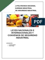 Leyes Nacionales e Internacionales y Convenios de Seguridad Industrial