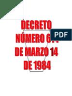 Decreto 614 de Marzo 14 de 1984