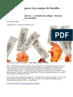 Língua portuguesa vira campo de batalha ideológica