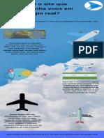 Qual é o site que acompanha voos em tempo real?