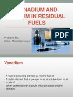 Vanadium And Sodium in Residual Fuels PPT