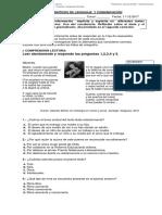 PRUEBA SINTESIS DE LENGUAJE  Y COMUNICACIÓN. 5°A.B.C
