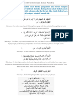 Bacaan Wirid Selepas Solat Fardhu