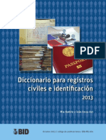 Diccionario Registro Civil