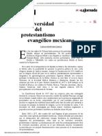 La Jornada_ La Diversidad Del Protestantismo Evangélico Mexicano