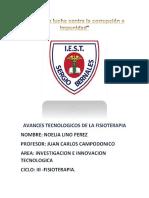 Proyecto Avances Tecnologicos de La Fisioterapia