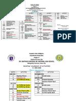 Calendar of Activities FILIPINO
