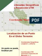 COORDENADAS GEOGRÁFICAS Y LA PROYECCIÓN  UTM_cbtis133.pptx