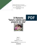 proyecto sobre salud y valores para mi proyecto de vida