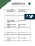 Jadwal Monitoring Evaluasi Program Lingk Fisik