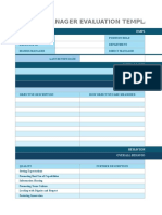 IC Annual Manager Evaluation Template 9431