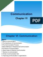 Communication Chapter VI