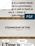 Stewardship of Time