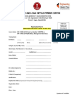 Application Form ISO OHSAS