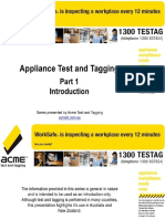 Appliance Test and Tag Part 1