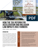 How the Tax Reform for Acceleration and Inclusion Law Impact Rice Farmers