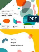 Orientaciones Orientaciones Para Artistas Cultores y Cultoras Marzo2018