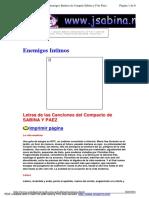Sabina y Paez Letras Del CD Enemigos Intimos de Joaquin Sabina y Fito Paez