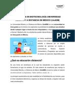 Ingenieria en Biotecnología Universidad Abierta y a Distancia de México