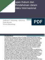 Penyelundupan Hukum dan Persoalan Pendahuluan dalam Hukum Perdata.pptx
