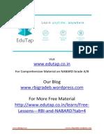 EduTap NABARD Quiz 1 Department