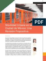 Movilidad Urbana en La Ciudad de Mexico