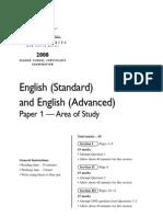 2008HSC - English Standard Advanced Paper 1