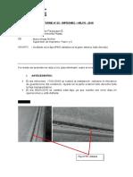 Informe N° 03 incidentes en la faja N°05.