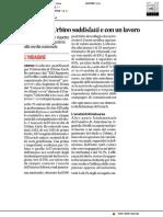 I laureati a Urbino soddisfatti e con un lavoro - Il Corriere Adriatico del 13 giugno 2019