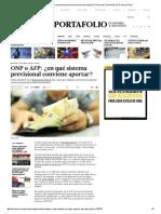 ¿ONP o AFP_ Cuál de Ellos Conviene Para El Aporte de Pensiones » Nacional _ Diario Los Andes » Noticias Puno Perú