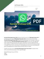 Whatsappgrouplinks.org-Kannada Whatsapp Group Links