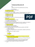 Pre Prof Ed b (m2018) - Ans Key