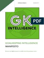 Goalkeeping Intelligence MANIFESTO