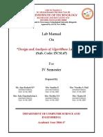 15csl47 Daa Lab Manual-1