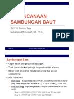 Set 08 - Perencanaan Sambungan Baut - SNI 1729-2015 + TUGAS