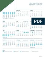 2019 Constructionindustry Calendar