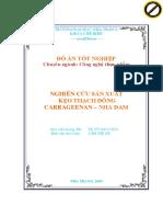 Nghiên Cứu Sản Xuất Kẹo Thạch Đông Carrageenan - Nha Đam