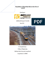 Evaluating the Feasibility of Electrified Rail 2011
