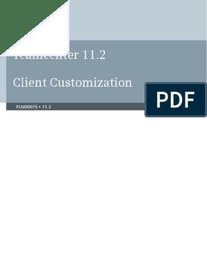 Teamcenter Client Customization Programmers Guide   Menu